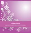winter background design white snowflake vector image vector image