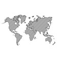 world map outline and oblique line vector image vector image