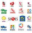 biggest collection of logos shoes vector image