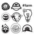 farm house concept logo emblem vector image