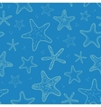 Starfish blue texture seamless pattern background vector image