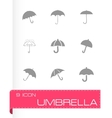 umberlla icon set vector image