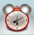 retro alarm clock icon vector image