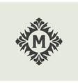 Stylish vintage monogram design vector image
