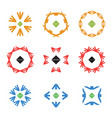 abstract arrow color icon logos set vector image vector image