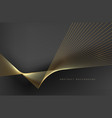 abstract background gold line for design vector image vector image