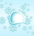 Abstract bubble with set snowflakes vector image vector image