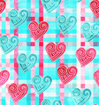 abstract valentine seamless pattern with grunge vector image vector image