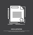 agreement contract deal document paper icon glyph vector image