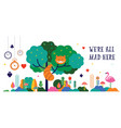 alice in wonderland banner poster and card we vector image vector image