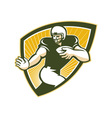 American Football Running Back Shield vector image vector image
