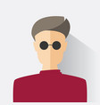 avatar man in modern flat design vector image vector image