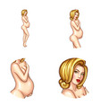 avatar of blonde naked pregnant woman vector image