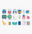 back to school stationery supplies accessories vector image