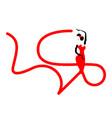 beautiful logo young woman hispanic flamenco dance vector image vector image