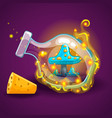 bottle with magic smoke and mushrooms vector image vector image