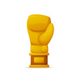 boxing trophy for professional sportsman boxer vector image