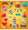 Carnival show and party set of celebration vector image