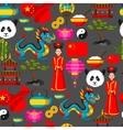 China seamless pattern Chinese symbols and vector image vector image