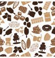 chocolate icons seamless color pattern eps10 vector image vector image