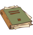 closed book with torn pages vector image vector image