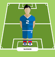 Computer game Slovakia Soccer club player vector image vector image