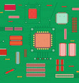 electronic circuit and processor vector image vector image