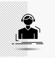 engineer headphones listen meloman music glyph vector image vector image