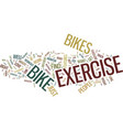 exercise bikes how far they have come text vector image vector image