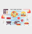 fast food factory vector image vector image