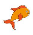 fish food cartoon vector image vector image