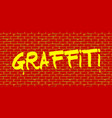 graffiti red wall vector image vector image