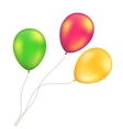 Green Red Orange Yellow Balloons Set vector image vector image