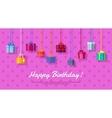 Happy Birthday Flat Design Web Banner vector image vector image
