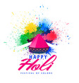 happy holi abstract colorful splash background vector image vector image