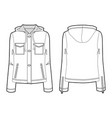 hooded sports jacket for women vector image