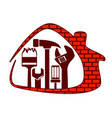 house repair with tool vector image vector image