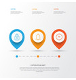 internet icons set collection of time safeguard vector image vector image