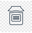 jar concept linear icon isolated on transparent vector image
