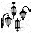 lanterns set vector image