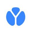 letter y logo modern blue font icon vector image vector image