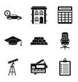 loanword icons set simple style vector image vector image