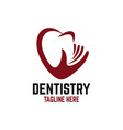 modern caring and heart dentistry vector image