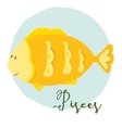 Nice pisces horoscope sign vector image