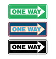 one way sign set vector image vector image