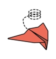 paper plane style modeling light line dotted vector image vector image