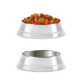 pet food bowl set realistic vector image vector image