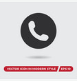 phone icon in modern style for web site and vector image vector image