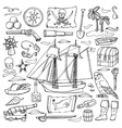 Pirates hand drawn set vector image