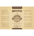 Restaurant cafe pizzeria menu template vector image vector image